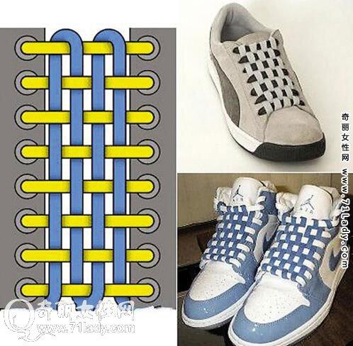 板鞋鞋带的系法图解 4种鞋带的系法实用又时尚(2)